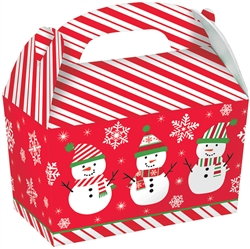 Snowman Large Gable Boxes | Party Supplies