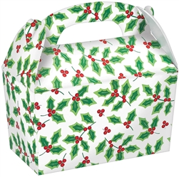 Holly Large Gable Boxes | Party Supplies