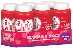 Valentine Bubbles 6-pk with Labels | Party Supplies