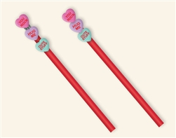 Stackable Heart 3-D Eraser w/Pencil | Party Supplies