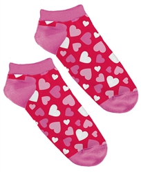 Valentine Hearts No Show Socks | Party Supplies