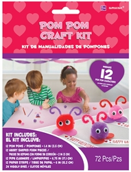 Pom-Pom Character Craft Kit | Party Supplies