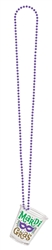 Mardi Gras Shot Glass on a Chain Necklace | Party Supplies