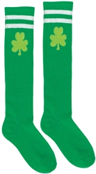 Shamrock Knee High Tube Socks | Party Supplies
