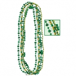 St. Patrick's Bead Necklaces | Party Supplies