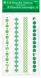 St. Patrick's Day Tattoo Bracelets | Party Supplies
