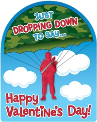 Valentine Cards w/Paratroopers | Party Supplies