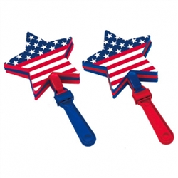 Patriotic Flag-Shaped Hand Clappers | Party Supplies