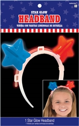 Patriotic Stars Glow Headband | Party Supplies