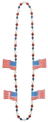 Patriotic Flag Bead Necklace | Party Supplies