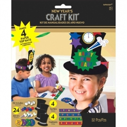 New Years Top Hat Craft Kit | Party Supplies