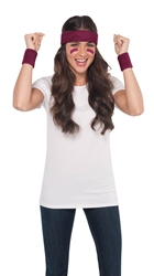 Burgundy Wrist & Headband Set | Party Supplies