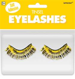 Yellow Tinsel Eyelashes | Party Supplies