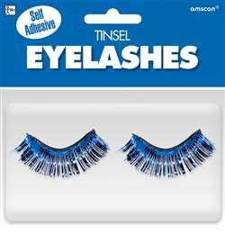 Blue Tinsel Eyelashes | Party Supplies