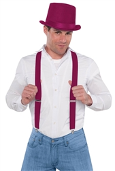 Burgundy Suspenders | Party Supplies