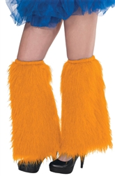 Orange Plush Leg Warmers