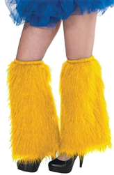 Yellow Plush Leg Warmers