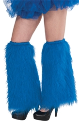 Blue Plush Leg Warmers