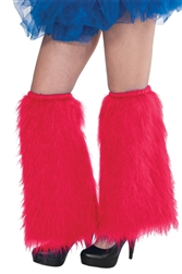Red Plush Leg Warmers