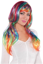 Rainbow Glamorous Wig | Party Supplies