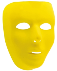 Yellow Full Face Mask | Party Supplies