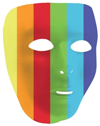 Rainbow Full Face Mask | Party Supplies