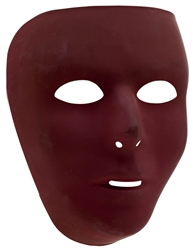 Burgundy Full Face Mask | Party Supplies