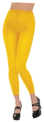 Yellow Footless Tights | Party Supplies