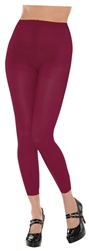 Burgundy Footless Tights | Party Supplies