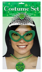 St. Patrick's Day Costume Set with Tiara | Irish Party Apparel