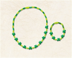 Shamrock Plastic Bracelet & Necklace Set | party supplies
