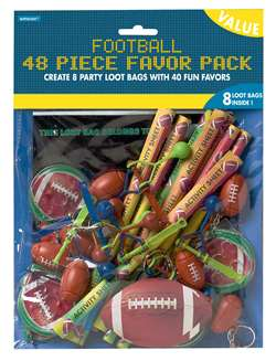 Championship Football 48-Piece Value Pack | Party Supplies