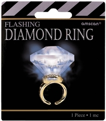 Hollywood Mega Carat Diamond Ring | Party Supplies