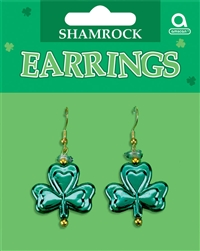 Shamrock Dangling Earrings | party supplies