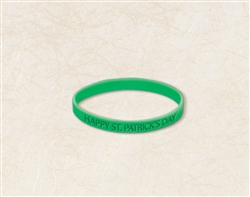 St. Patrick's Day Rubbert Attitude Bracelet | party supplies