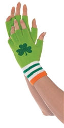 St. Patrick's Day Fingerless Gloves | party supplies