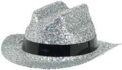 Silver Mini Glitter Cowboy Hat | Party Supplies