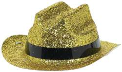 Gold Mini Glitter Cowboy Hat | Party Supplies
