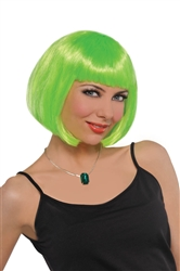 Lime Green Short Bob Wig | party supplies