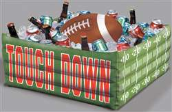 Football Fan Inflatable Plastic Cooler | Party Supplies