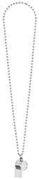 Silver Whistle on Chain Necklace | Party Supplies
