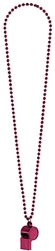 Burgundy Whistle on Chain Necklace | Party Supplies