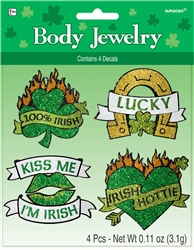 St. Patrick's Day Glitter Body Jewelry | party supplies