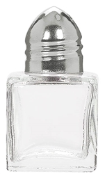 Mini Glass Salt & Pepper Shakers w/Metal Cap | Party Supplies