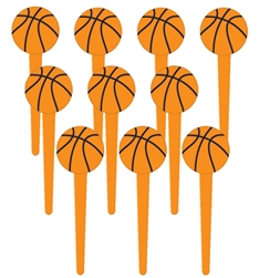 Basketball Fan Plastic Picks | Party Supplies