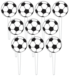 Soccer Fan Plastic Picks | Party Supplies