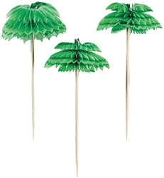 Palm Tree Honeycomb Picks | Party Supplies