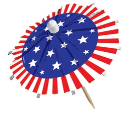 Patriotic Jumbo Umbrella Picks | Party Supplies