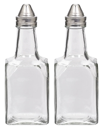 Oil & Vinegar Glass Bottles w/Metal Cap | Party Supplies