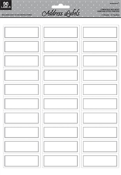 Silver Address Labels | Party Supplies